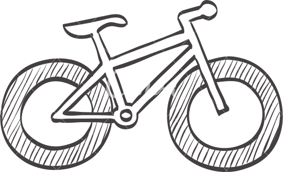 550x335 Sketch Icon Of Fat Tire Bicycle