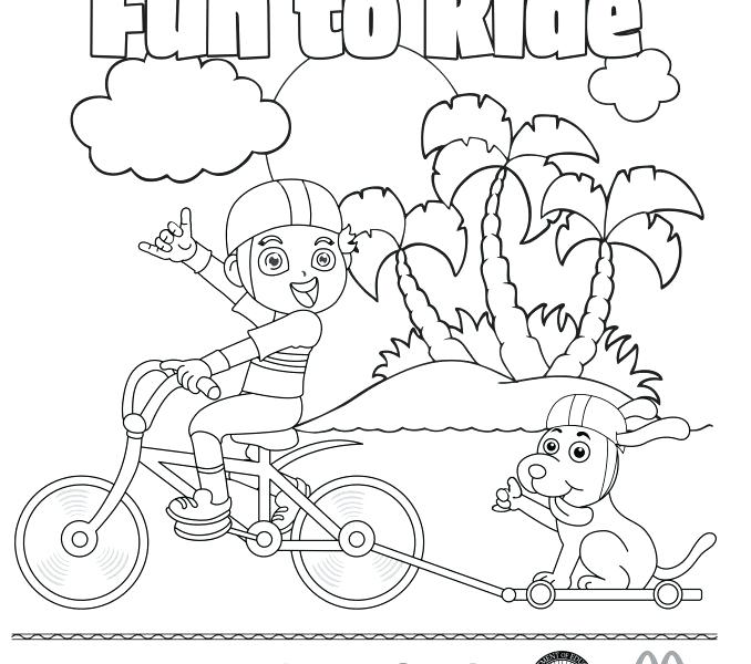 678x600 Bike Safety Coloring Pages Drawing Bike Safety Coloring Pages Bike