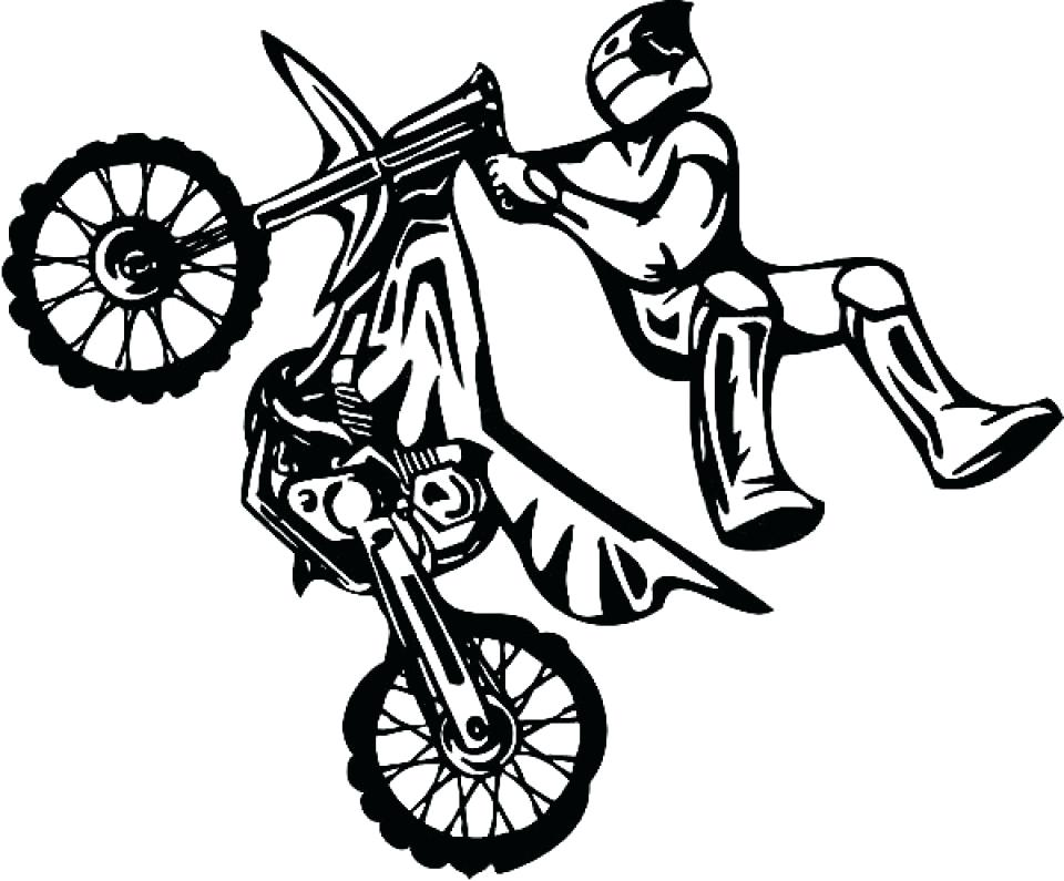 960x795 Dirt Bike Color Pages Kids Drawing Dirt Bike Coloring Page Dirt
