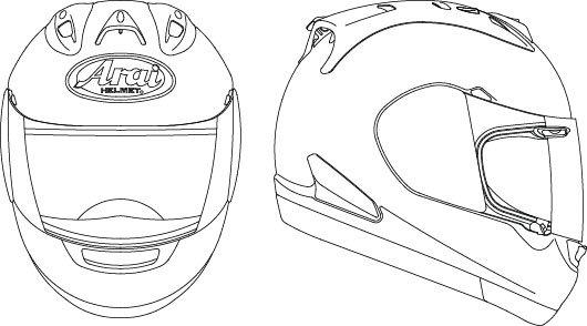 Bike Helmet Drawing