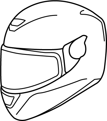 Bike helmet drawing at free for personal for Motorcycle helmet coloring pages