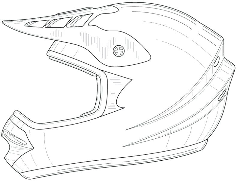 790x605 Bike Helmet Coloring Page 54 Also Pin Drawn Bike Dirt Bike Helmet