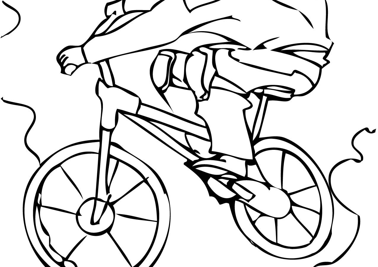 1275x900 Drawn Bicycle Bmx Bike And Coloring Book Pages For Toddler Free
