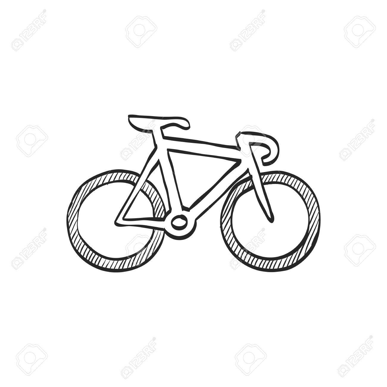 1300x1300 Track Bike Icon In Doodle Sketch Lines. Bicycle Racing Road