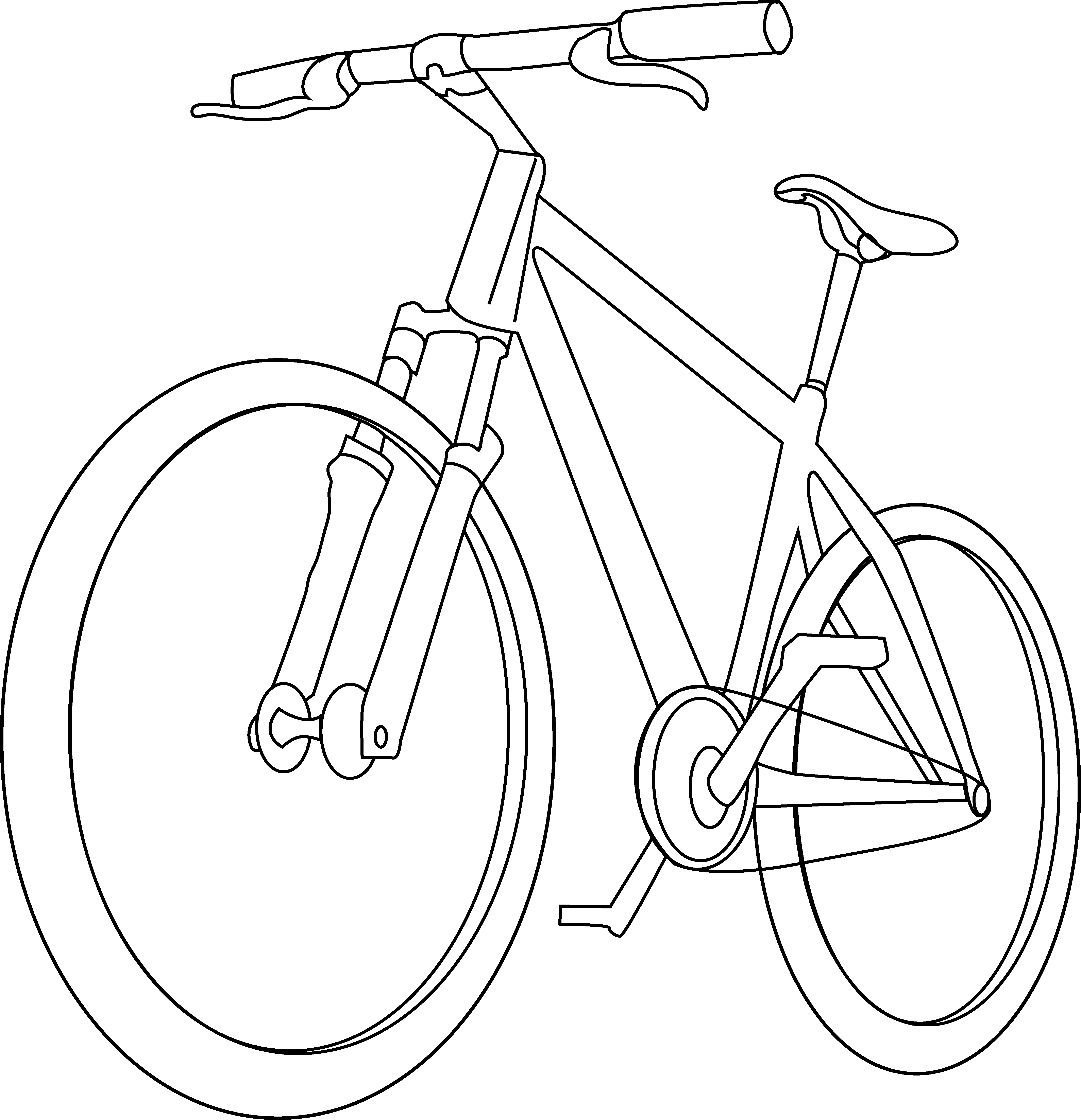 5341x5537 Bicycle Coloring Page