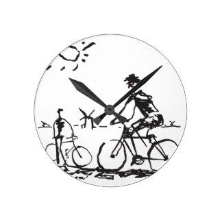 324x324 Bicycle Wall Clocks Zazzle