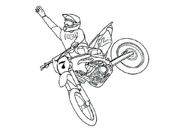 600x429 Bike Safety Coloring Pages Drawing Bike Safety Coloring Pages