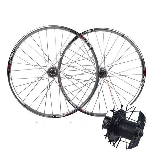 640x640 26 Inch Polished Silver Bicycle Wheelset Disc Brakes Mountain Bike