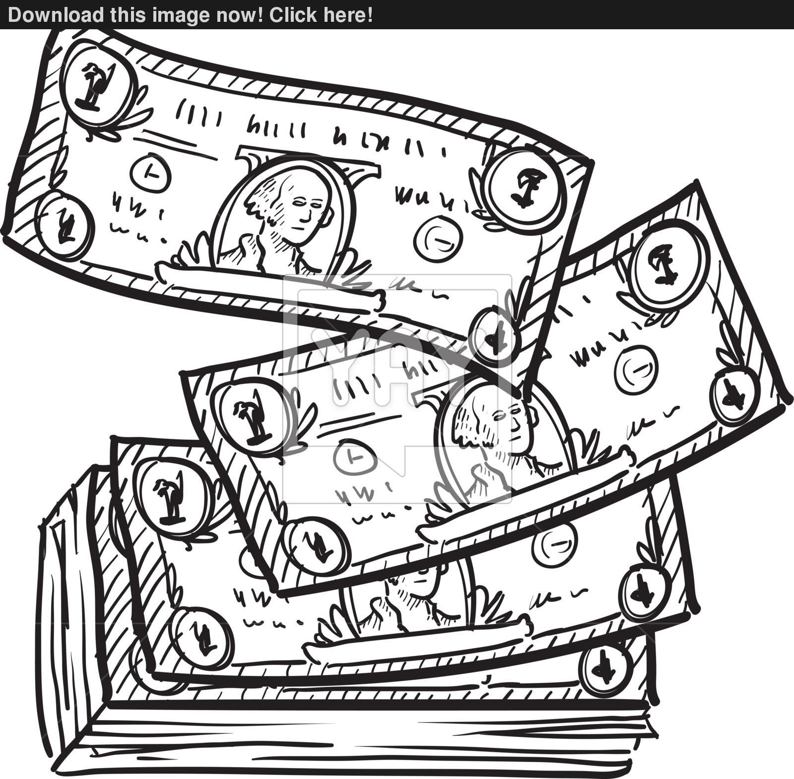 1600x1571 Drawing Of Dollar Bill Dollar Bill Vector Sketch Vector