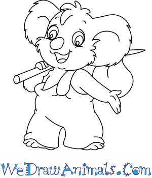 300x350 How To Draw Blinky Bill From The Adventures Of Blinky Bill