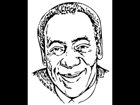 480x360 How To Draw Bill Cosby Face Sketch Drawing Step By Step