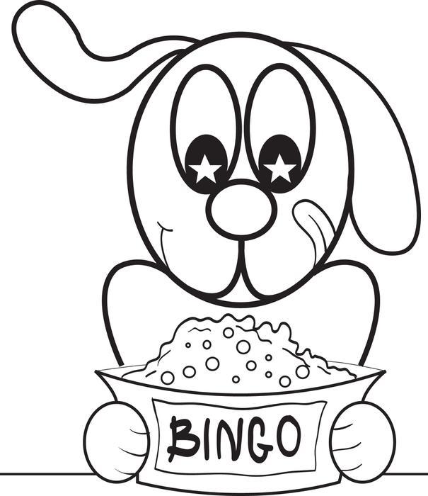 605x700 Free, Printable Bingo The Cartoon Dog Coloring Page For Kids
