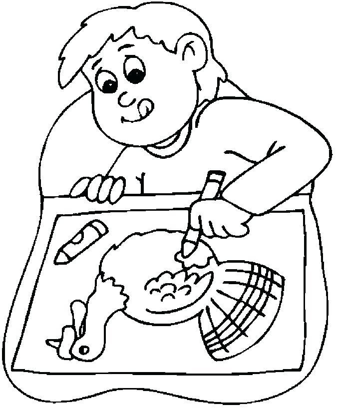 675x823 Thanksgiving Bingo Board No1 Coloring Page Boy Drawing Turkey Free