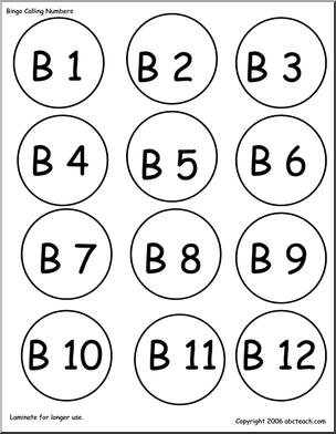 304x392 Bingo Cards Numbers 1 75 (Call Chips) Abcteach
