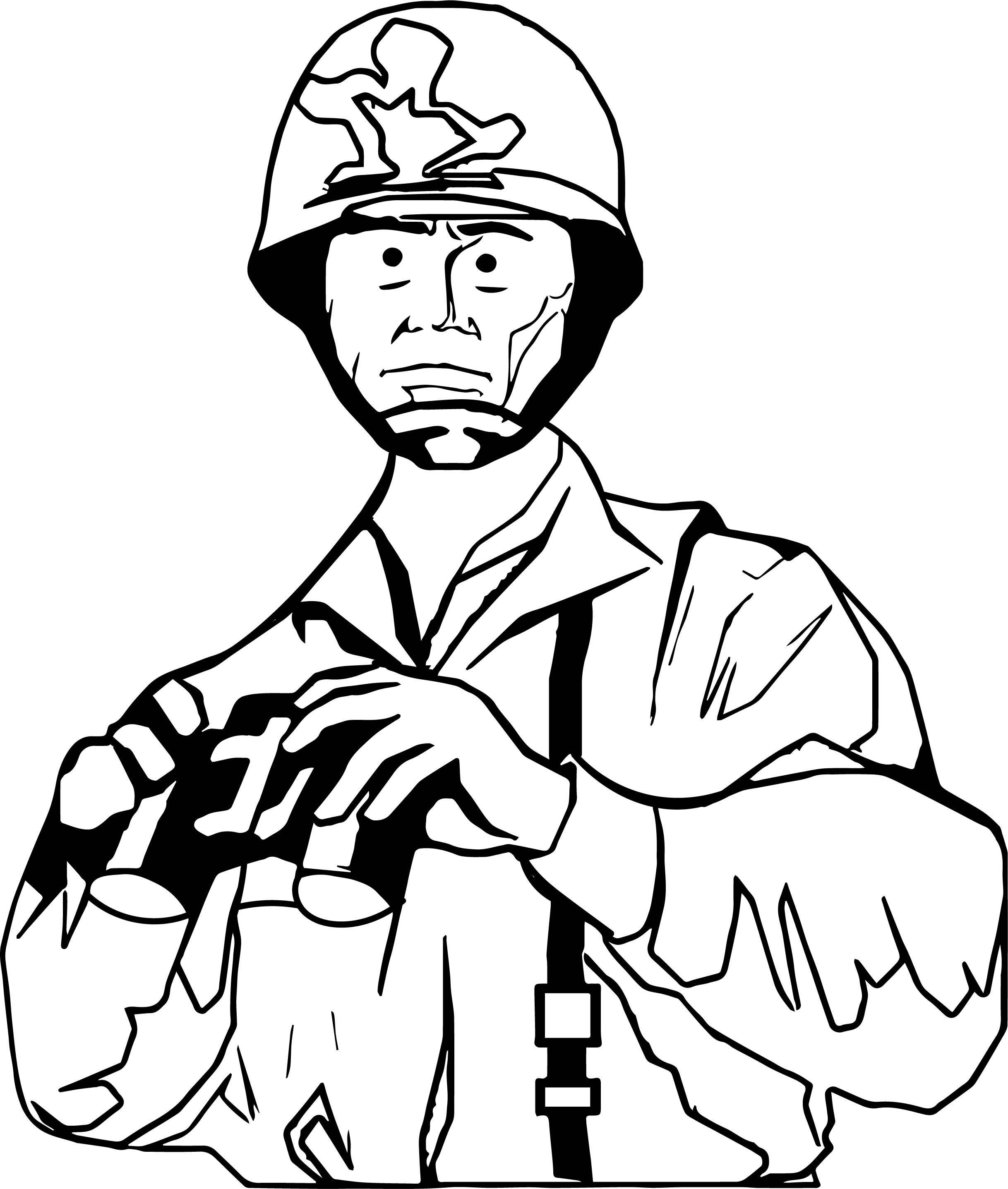 2436x2874 Soldier Commander Binoculars Coloring Page Wecoloringpage