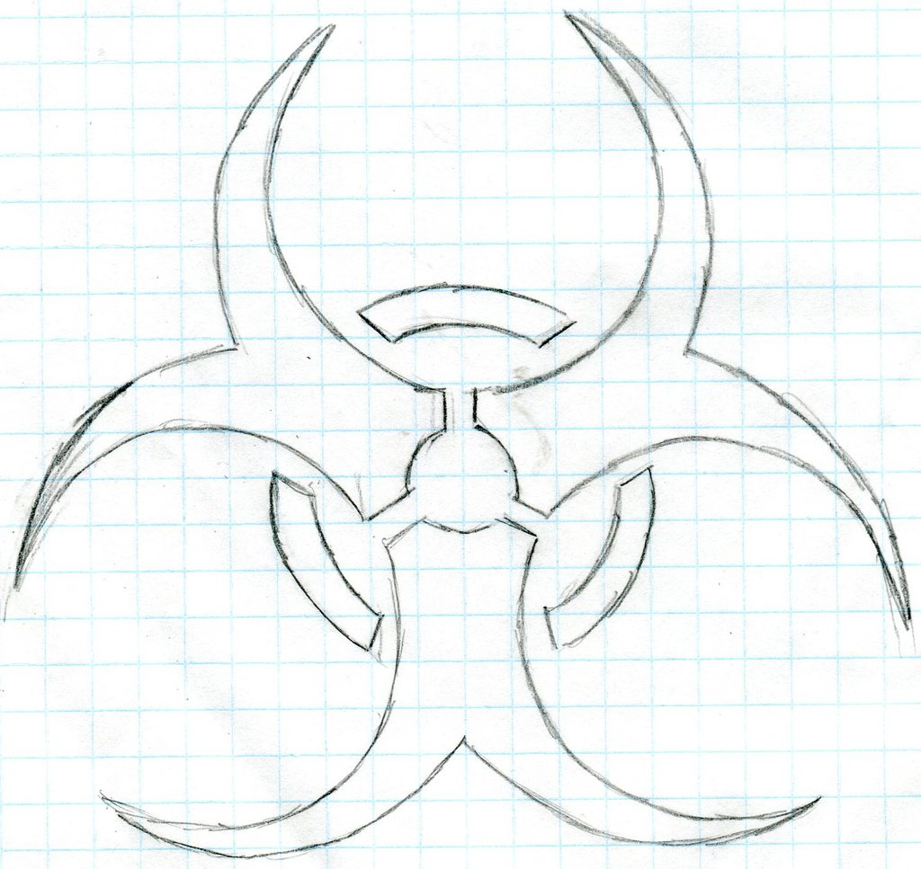 1024x967 Biohazard Symbol (Sketch) By Kyrenv