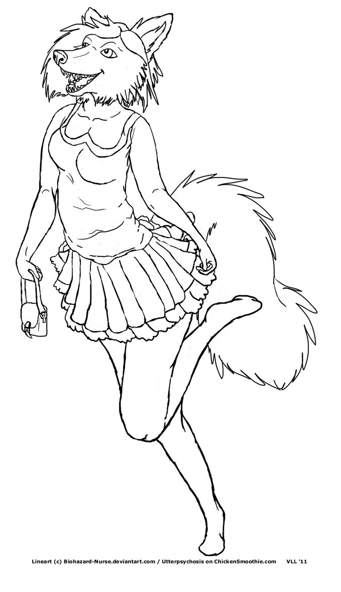 679x1177 Anthro Free Use Lineart By Biohazard Nurse