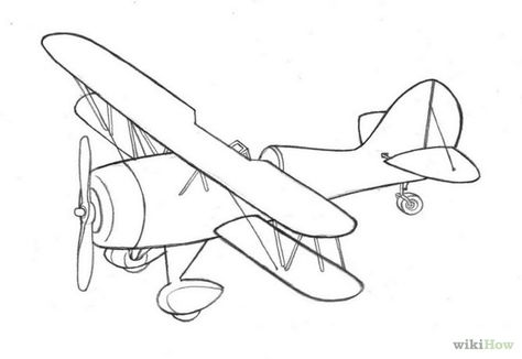 Biplane Drawing at GetDrawings com | Free for personal use