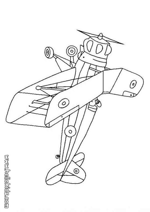 602x850 Biplane Coloring Pages