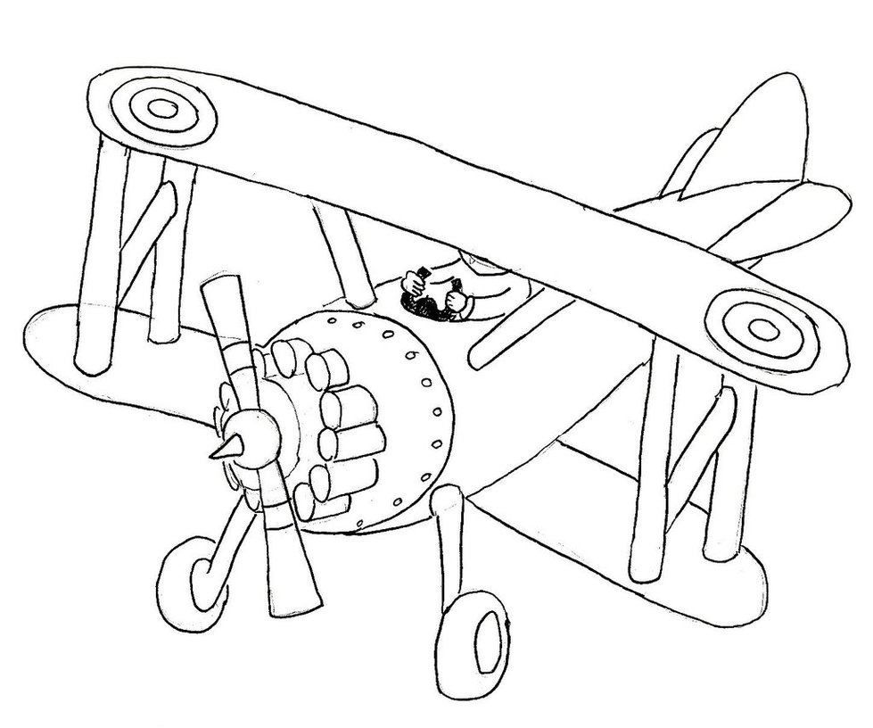 979x816 Biplane Template By Caosespacial257