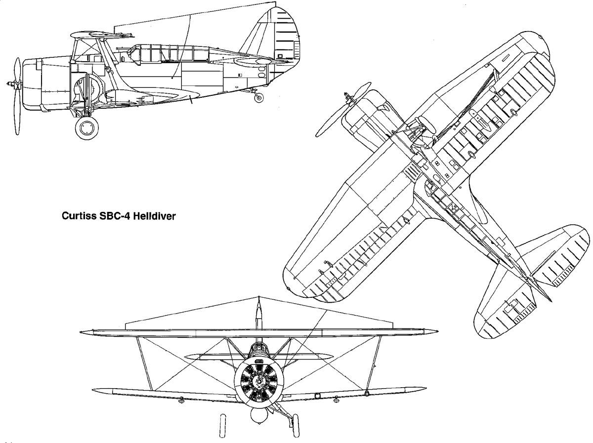 1200x897 Curtiss Sbc 4 Helldiver, The Last Biplane Delivered To The Us Navy