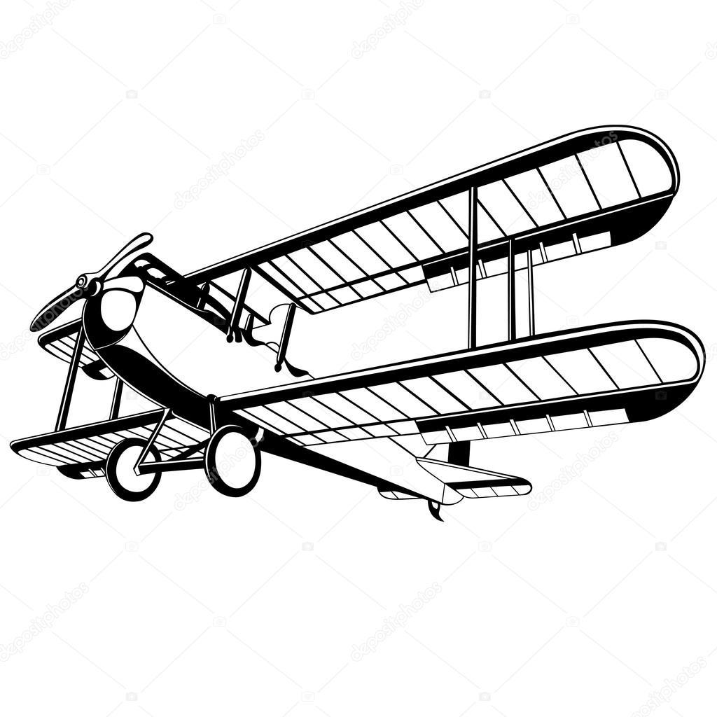 1024x1024 Vector Old Biplane Stock Vector Umlaut