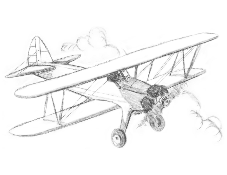 1500x1159 Art Time Classes Biplane