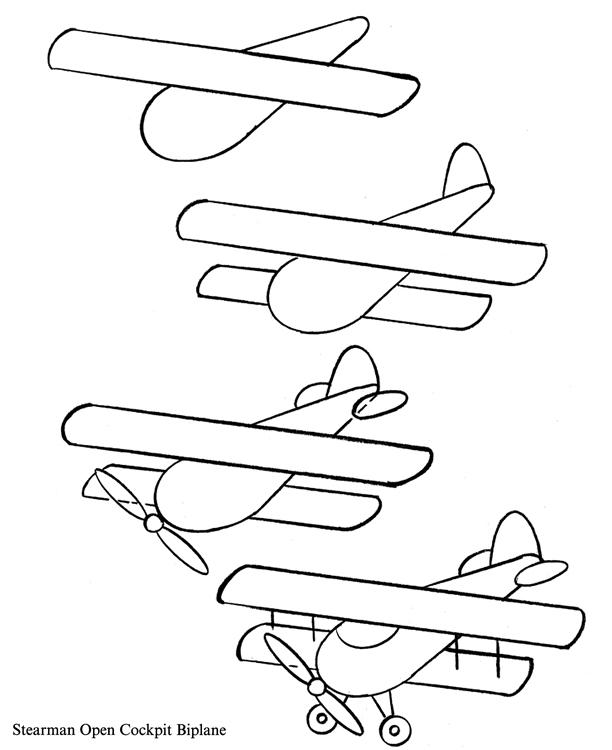 612x750 Bi Plane Drawing Biplane Drawing Plans