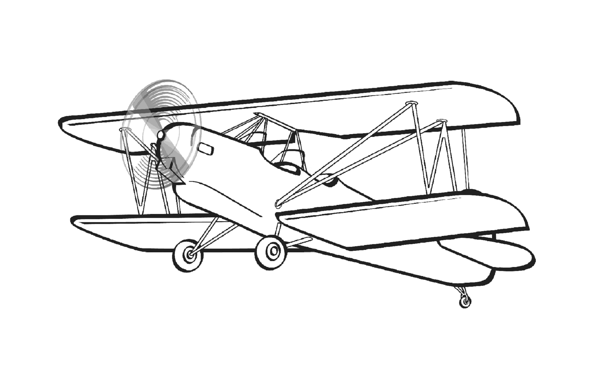 2000x1274 Biplane Coloring Contest! Win Gold!