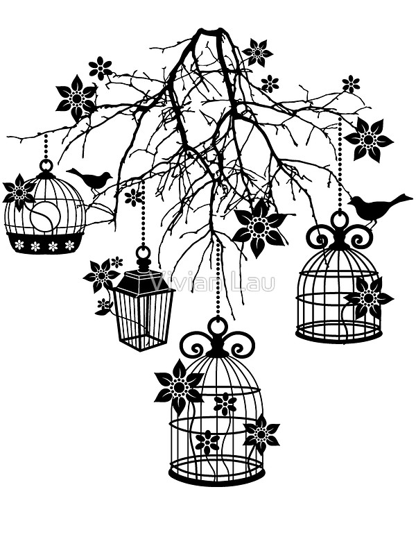 600x800 Bird Cage Chandelier Stickers By Vivian Lau Redbubble
