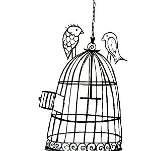 300x300 Drawing Bird Cage Coloring Pages Best Place To Color