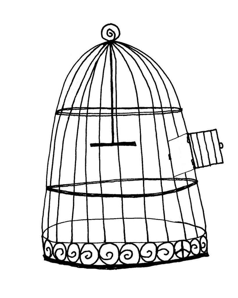 819x1024 Free Bird Cage Drawn With Ink Pen Denton Loomis