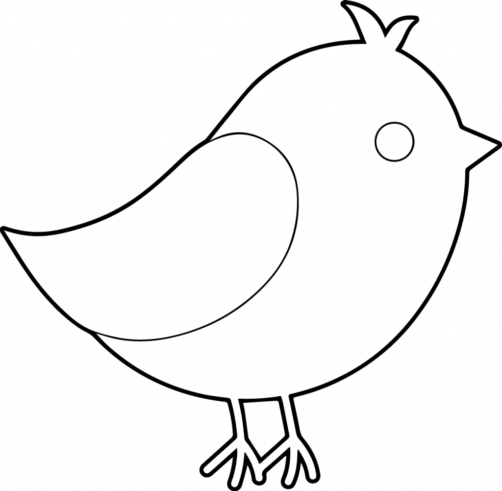 1024x1001 Draw Simple Bird