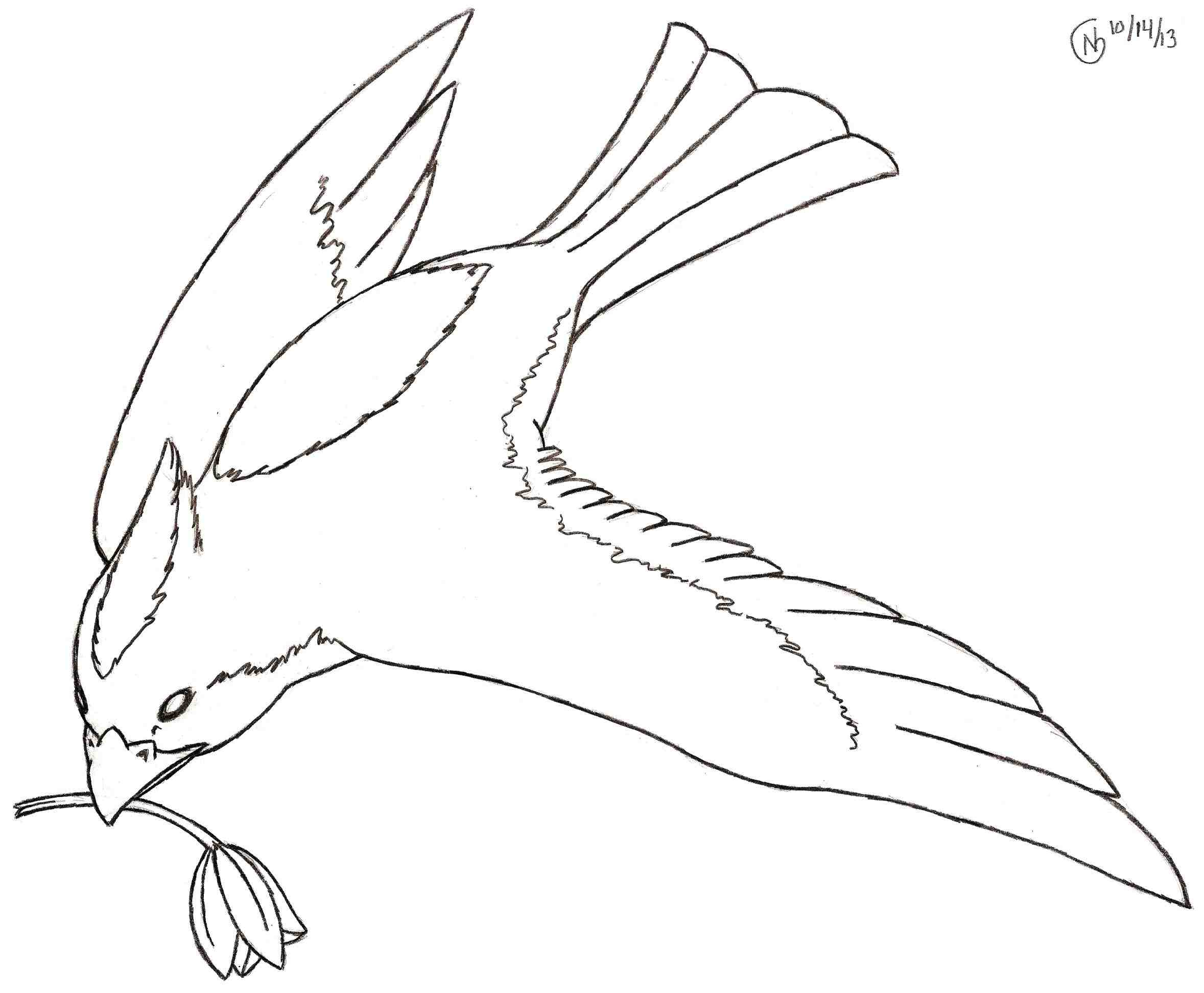 2357x1945 Drawing Of A Flying Bird