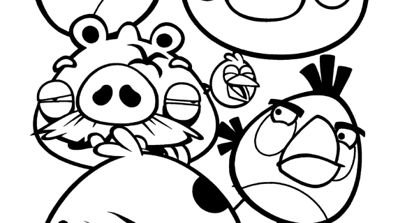 570x320 Angry Birds Drawing Book Free Printable Angry Bird Coloring Pages