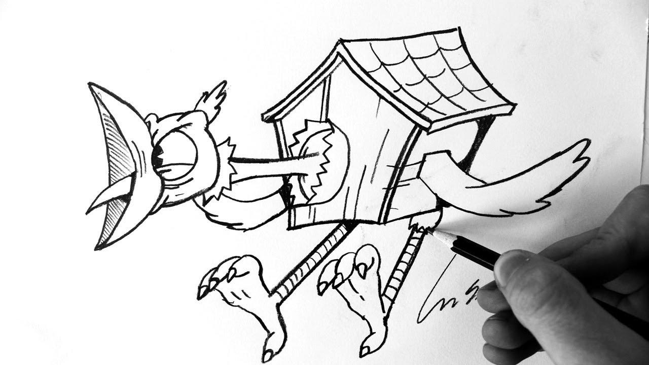 1280x720 Como Desenhar Wally Warbles Boss [Cuphead Aviary Action]