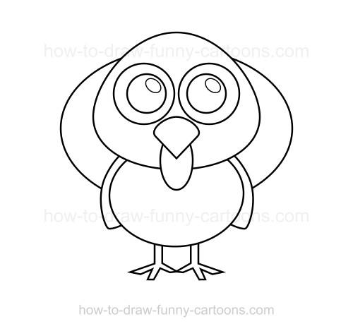 500x469 To Draw A Turkey