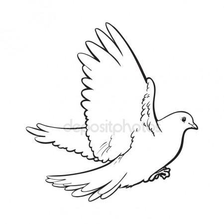 450x450 Hummingbird In Flight.detailed Drawing Of A Bird.handmade.vector
