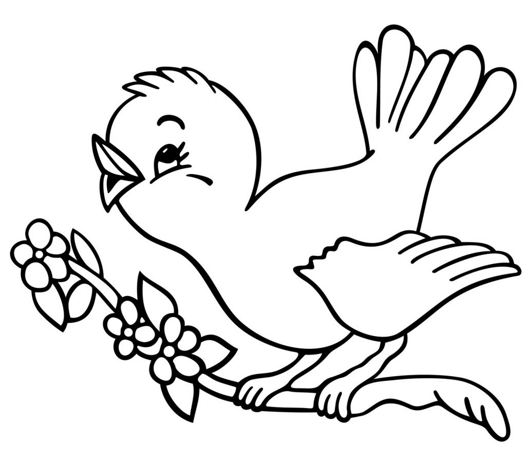 1024x897 Bird Drawing Simple