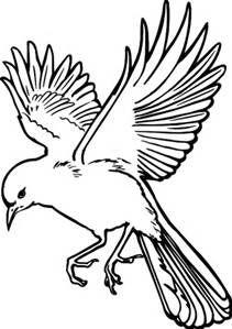211x299 Bird Clipart Bird Clipart Image Bird In Flight Outline Drawing