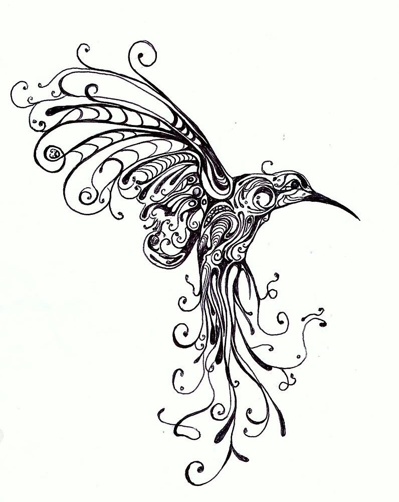 796x1000 Hummingbird Pattern By Kate Gorrie Redbubble