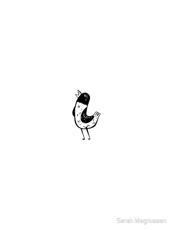 600x800 Tumblr Inspired Bird Drawing Stickers By Sarah Magnussen Redbubble