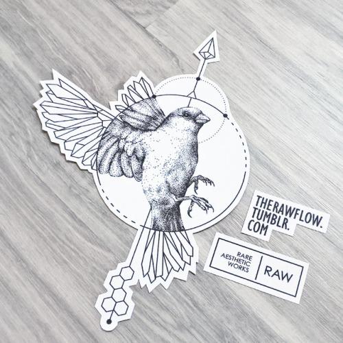 500x500 Geometric Birds Tumblr