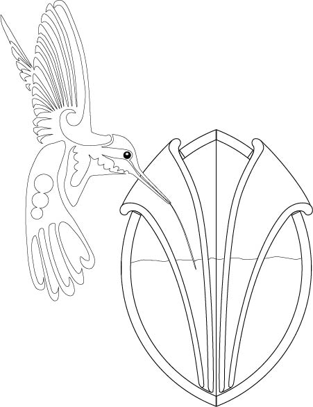 451x586 Line Drawing Of Hummingbird Feeder Loam