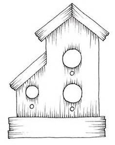 236x298 Birdhouse With Heart And Bow. Sketch Design, Then Paint