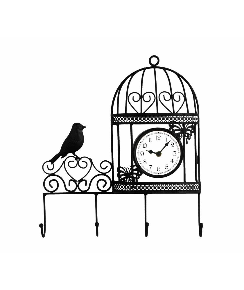 840x1000 Buy Decorative Wall Mounted Bird Cage Wall Clock And Coat Hanger