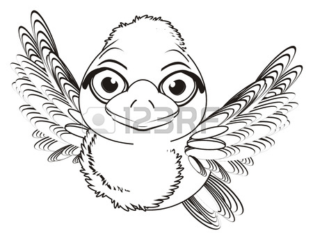 450x346 Coloring Bird Fly Near The Cage Stock Photo, Picture And Royalty