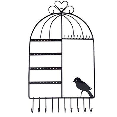 395x395 Baosity Metal Wall Mount Metal Bird Cage Jewelry Necklace Bracelet