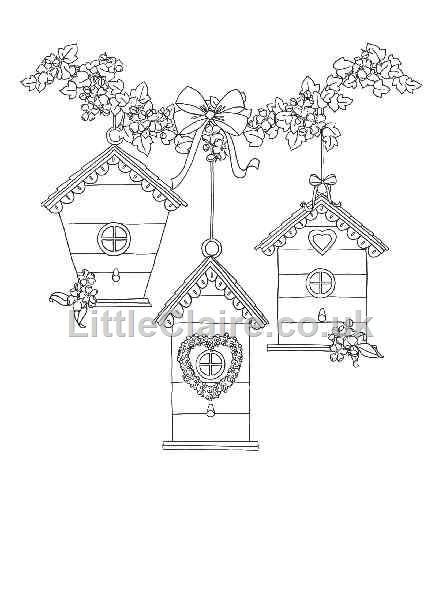 Bird House Drawing