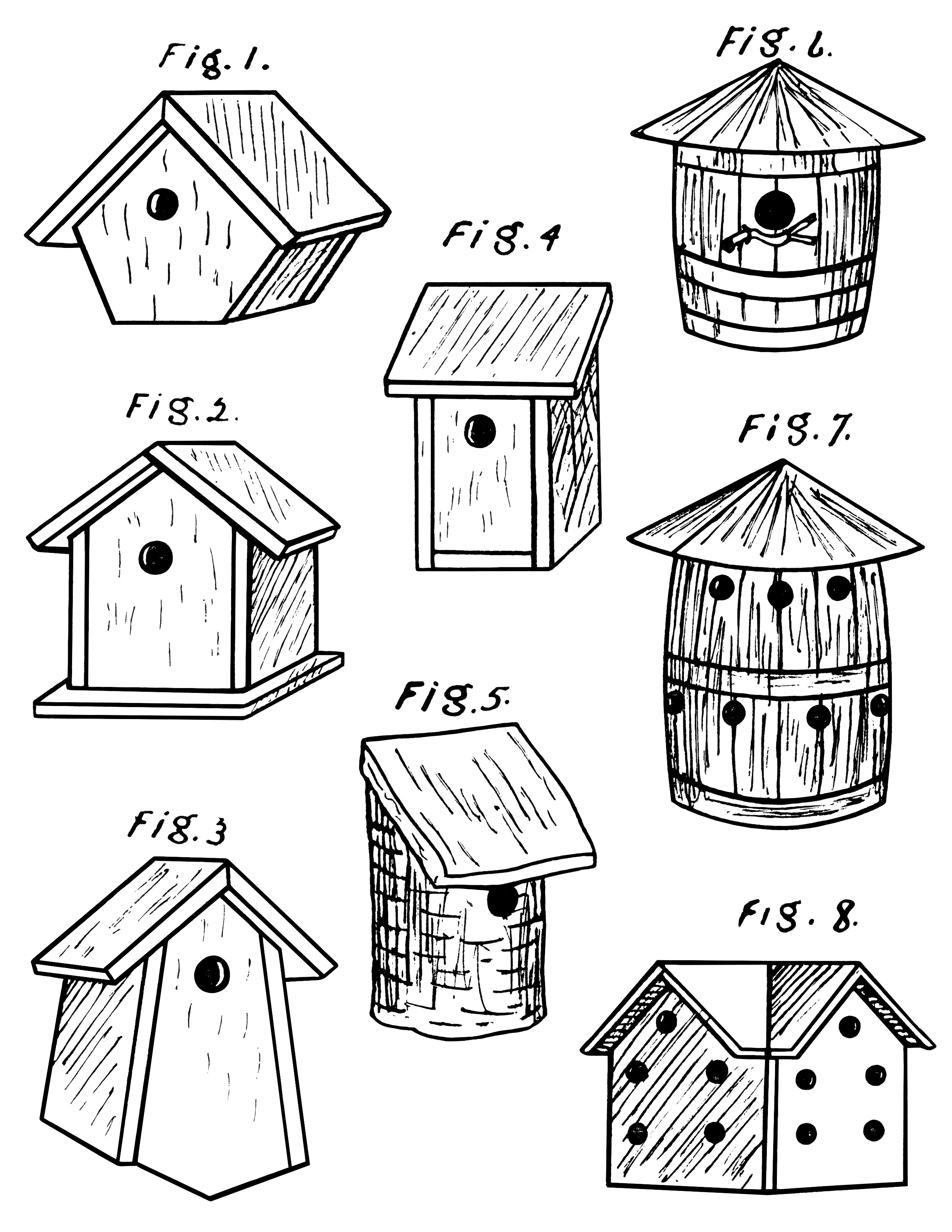 Bird House Drawing at GetDrawings.com | Free for personal use Bird